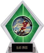 P.R. Female Soccer Green Diamond Ice Trophy