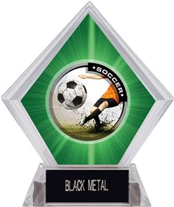 P.R. Male Soccer Green Diamond Ice Trophy