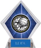 Bust-Out Volleyball Blue Diamond Ice Trophy