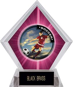 P.R. Female Soccer Pink Diamond Ice Trophy