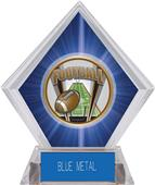 Awards ProSport Football Blue Diamond Ice Trophy