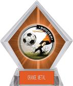Awards P.R. Male Soccer Orange Diamond Ice Trophy