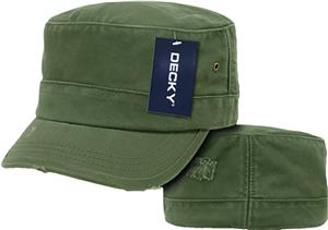 Decky Flat Top Military Caps