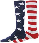 Red Lion Independence Mismatched Knee High Socks