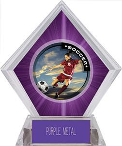 P.R. Female Soccer Purple Diamond Ice Trophy