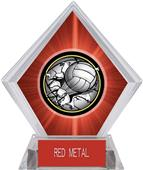 Bust-Out Volleyball Red Diamond Ice Trophy