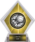Bust-Out Volleyball Yellow Diamond Ice Trophy