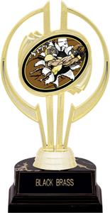 """Awards Gold Hurricane 7"""" Bust-Out Football Trophy"""