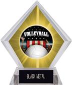 Award Patriot Volleyball Yellow Diamond Ice Trophy