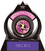 "Eclipse 6"" Gymnastics Pink Burst-Out Trophy"