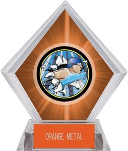 Hasty Awards Orange Diamond Swimming Ice Trophy