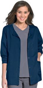 Urbane Women's Aubrey Front Button Scrub Jackets