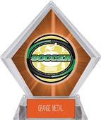 Awards Classic Soccer Orange Diamond Ice Trophy