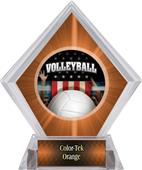 Award Patriot Volleyball Orange Diamond Ice Trophy