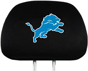 NFL Detroit Lions Headrest Covers - Set of 2