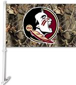 COLLEGIATE Florida State Realtree Camo Car Flag