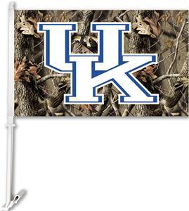 COLLEGIATE Kentucky Realtree Camo Car Flag