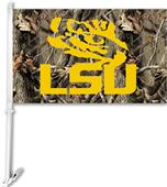 COLLEGIATE LSU Realtree Camo Car Flag