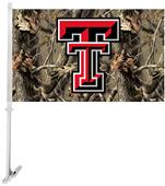 COLLEGIATE Texas Tech Realtree Camo Car Flag