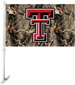 COLLEGIATE Texas Tech Realtree Camo Car Flag