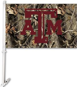 COLLEGIATE Texas A&M Realtree Camo Car Flag