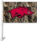 COLLEGIATE Arkansas Realtree Camo Car Flag