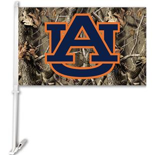COLLEGIATE Auburn Realtree Camo Car Flag