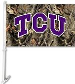 COLLEGIATE Texas Christian Realtree Camo Car Flag