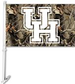 COLLEGIATE Houston Realtree Camo Car Flag