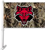 COLLEGIATE Arkansas State Realtree Camo Car Flag