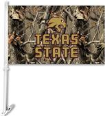 COLLEGIATE Texas State Realtree Camo Car Flag