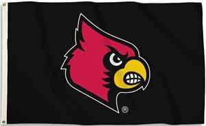 COLLEGIATE Louisville 3' x 5' Flag w/Grommets