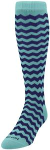 Twin City Krazisox Chevron Over Calf Nylon Socks