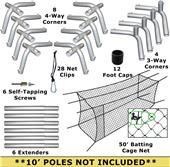 Cimarron #24 50x12x10 Batting Cage Nets & Frame