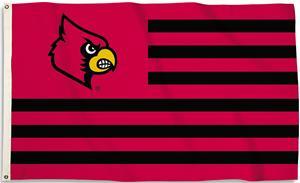 COLLEGIATE Louisville Stripes 3' x 5' Flag