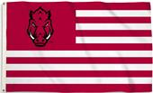 COLLEGIATE Arkansas Stripes 3' x 5' Flag w/Grommet