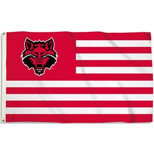 COLLEGIATE Arkansas State Stripes 3' x 5' Flag