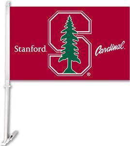 "COLLEGIATE Stanford 11"" x 18"" Car Flag"
