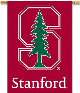 "COLLEGIATE Stanford 2-Sided 28""x40"" Banner w/Pole"