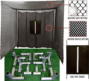 Cimarron 10'x10'x10' Masters Golf Net w/Frame Kit