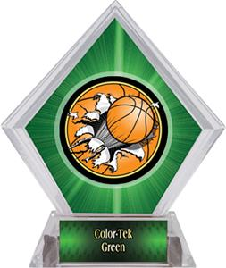 Bust-Out Basketball Green Diamond Ice Trophy