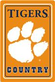 "COLLEGIATE Clemson 12""x18"" Metal Sign"