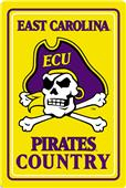 "COLLEGIATE East Carolina 12""x18"" Metal Sign"