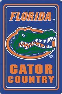 """COLLEGIATE Florida 12""""x18"""" Metal Sign"""