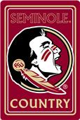 "COLLEGIATE Florida State 12""x18"" Metal Sign"
