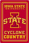 "COLLEGIATE Iowa State 12""x18"" Metal Sign"