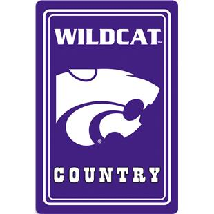 "COLLEGIATE Kansas State 12""x18"" Metal Sign"
