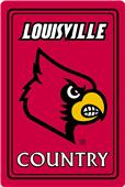 "COLLEGIATE Louisville 12""x18"" Metal Sign"