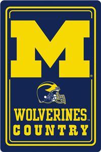 "COLLEGIATE Michigan 12""x18"" Metal Sign"