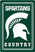 "COLLEGIATE Michigan State 12""x18"" Metal Sign"